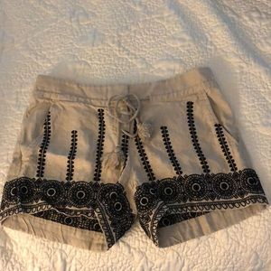 Loft drawstring linen shorts